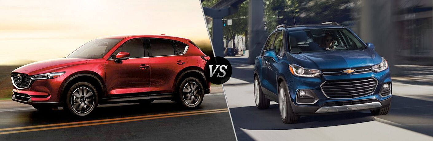 Another side-by-side comparison of the 2018 Mazda CX-5 vs. 2018 Chevy Trax.