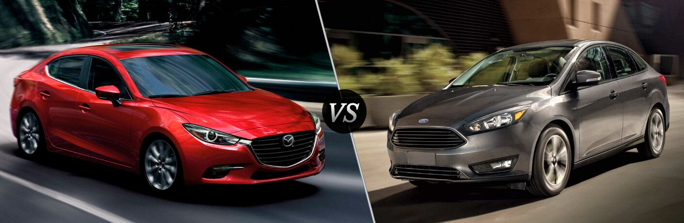 A side-by-side comparison of the 2018 Mazda3 vs. 2018 Ford Focus.