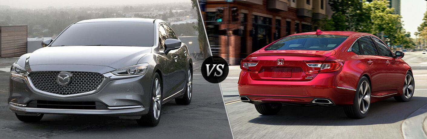 A side-by-side comparison of the 2018 Mazda6 vs. 2019 Honda Accord.