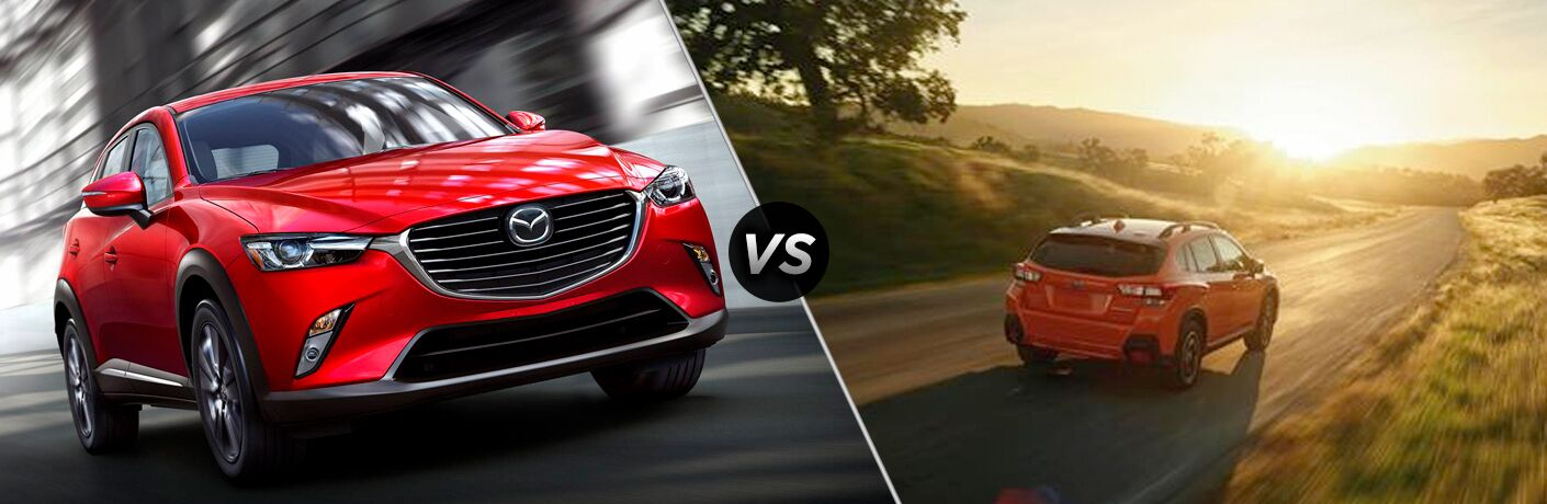 A side-by-side comparison of the 2019 Mazda CX-3 vs. 2018 Subaru Crosstrek.