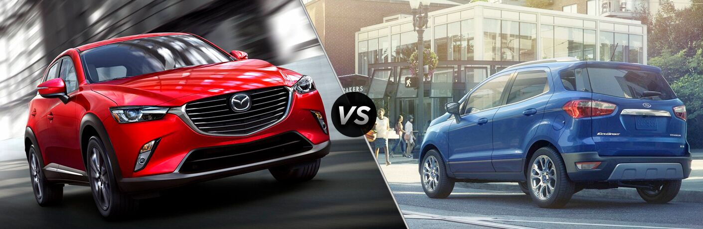 A side-by-side comparison of the 2019 Mazda CX-3 vs. 2018 Ford EcoSport.