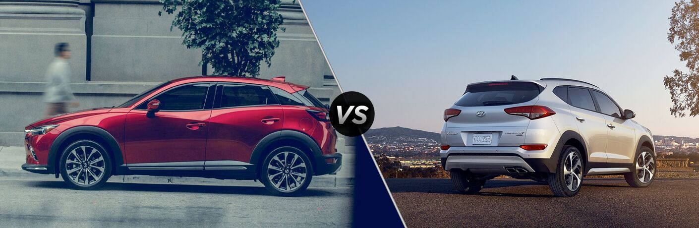 A side-by-side comparison of the 2019 Mazda CX-3 vs. 2019 Hyundai Tucson.