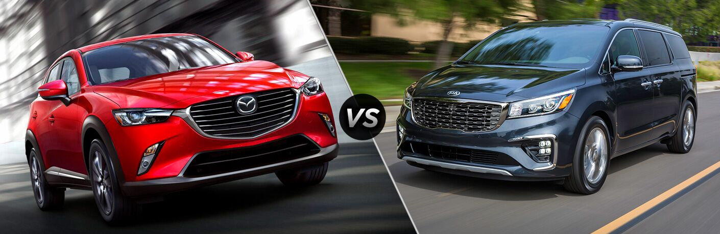 A side-by-side comparison of the 2019 Mazda CX-9 vs. 2019 Kia Sedona.
