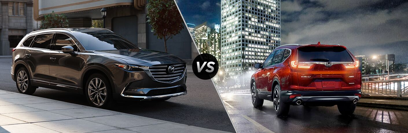 A side-by-side comparison of the 2019 Mazda CX-9 vs. 2019 Honda CR-V.