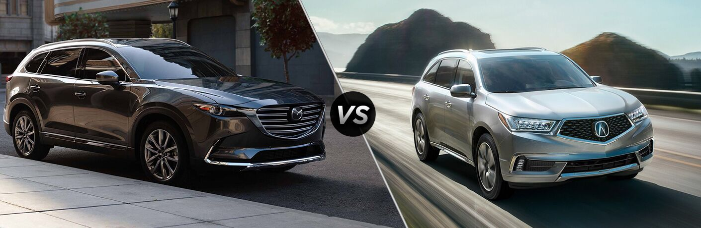 A side-by-side comparison of the 2019 Mazda CX-9 vs. 2019 Acura MDX.