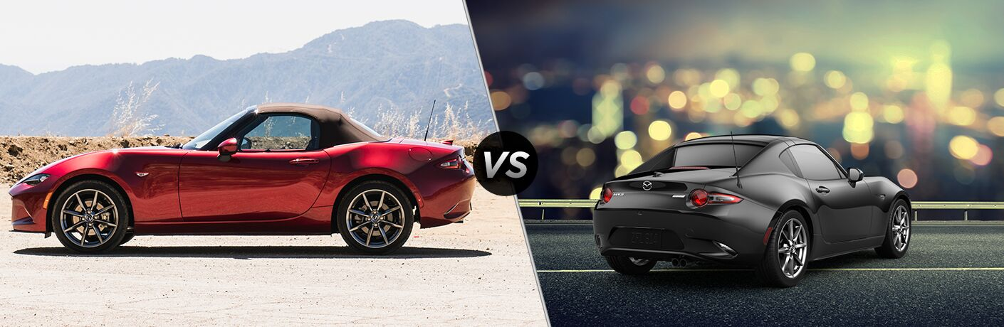 A side-by-side comparison of the 2019 Mazda MX-5 vs. 2019 Mazda MX-5 RF.