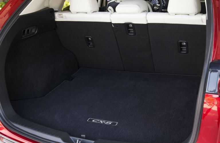 A photo of the cargo space available in the back of the 2019 Mazda CX-5.