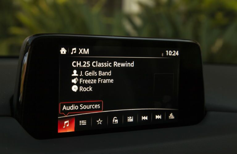 A photo showing the touchscreen interface in the 2019 Mazda CX-5.