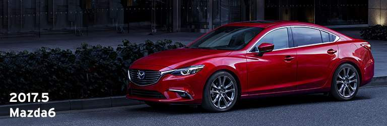 2017.5 Mazda6 Written in White with Red Exterior View of Mazda6