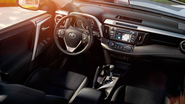 2015 Toyota Rav4 interior steering wheel