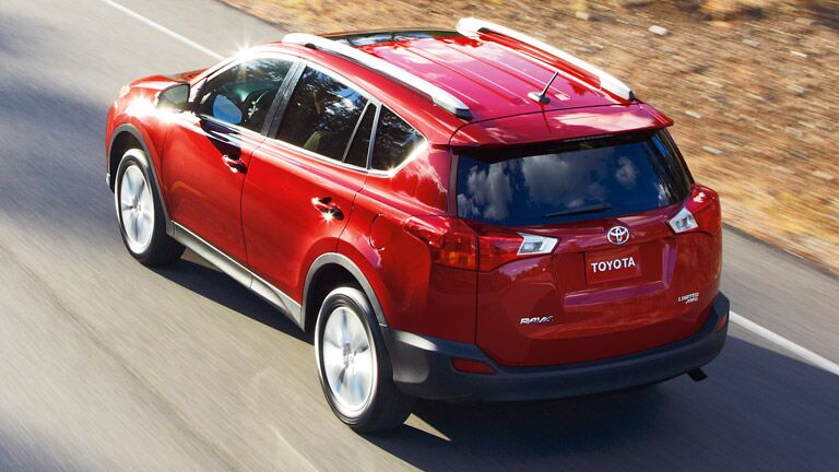 2015 Toyota Rav4 exterior red rear top