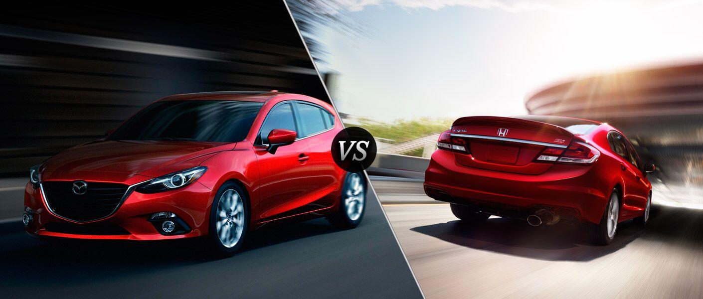 2015 Mazda3 vs 2015 Honda Civic