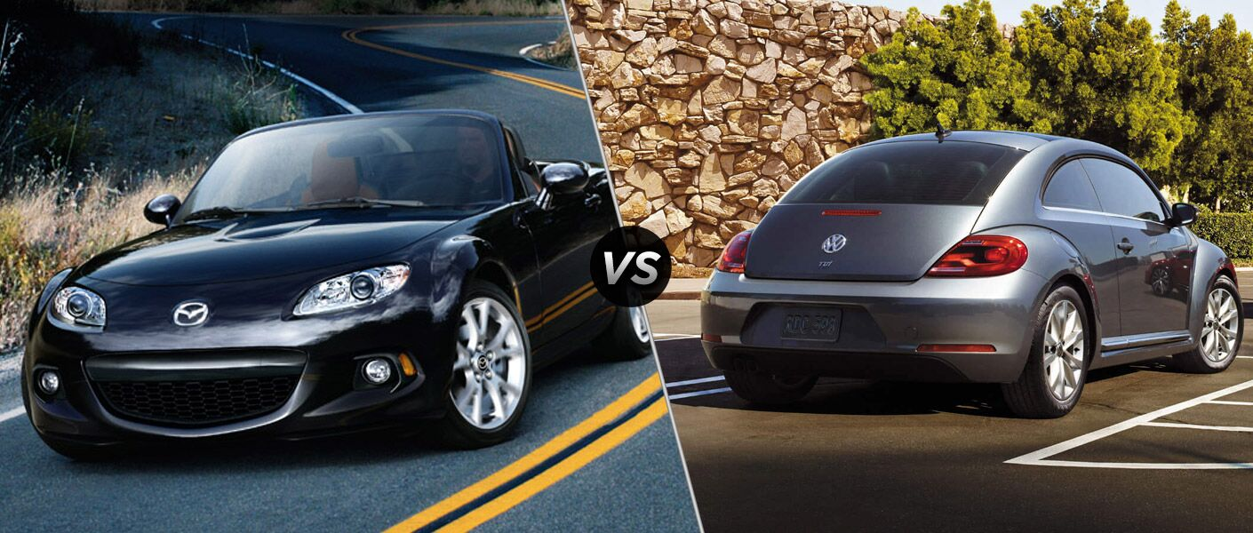 2015 Mazda MX-5 Miata vs 2015 Volkswagen Beetle