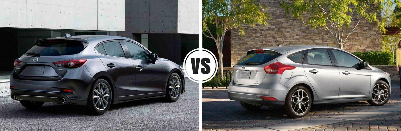 2017 Mazda3 hatchback vs 2017 Ford Focus hatchback