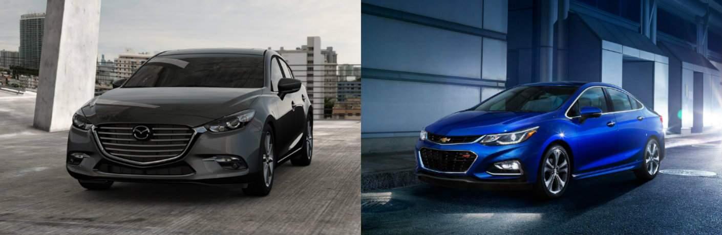 2017 Mazda3 sedan vs 2017 Chevy Cruze sedan