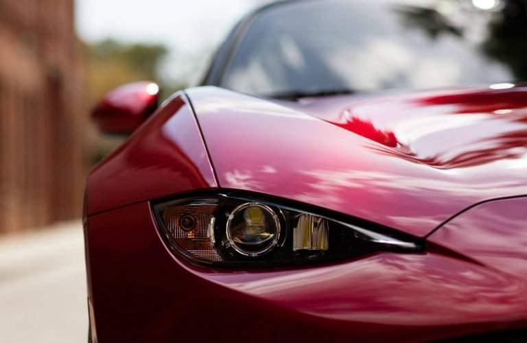 red 2018 Mazda MX-5 Miata RF headlight view