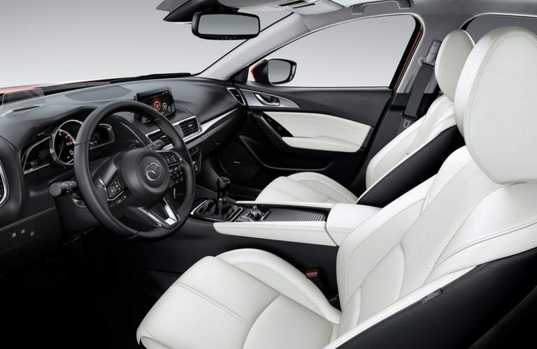 2018 Mazda3 driver's seat and steering wheel