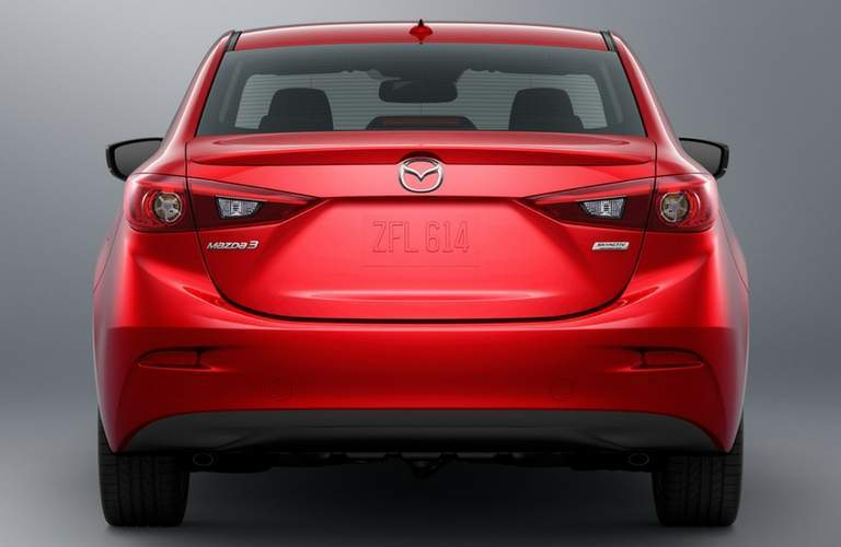 Rear styling of 2018 Mazda3