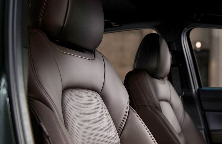 closeup of front seats in mazda cx-5