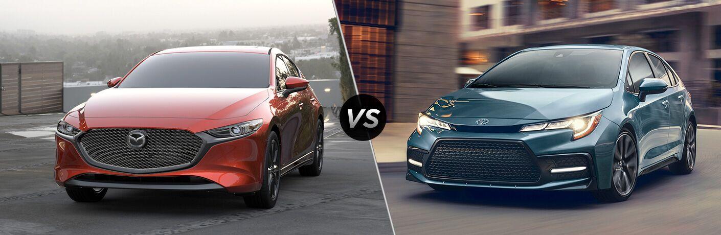 2020 Mazda3 Hatchback vs 2020 Toyota Corolla Hatchback