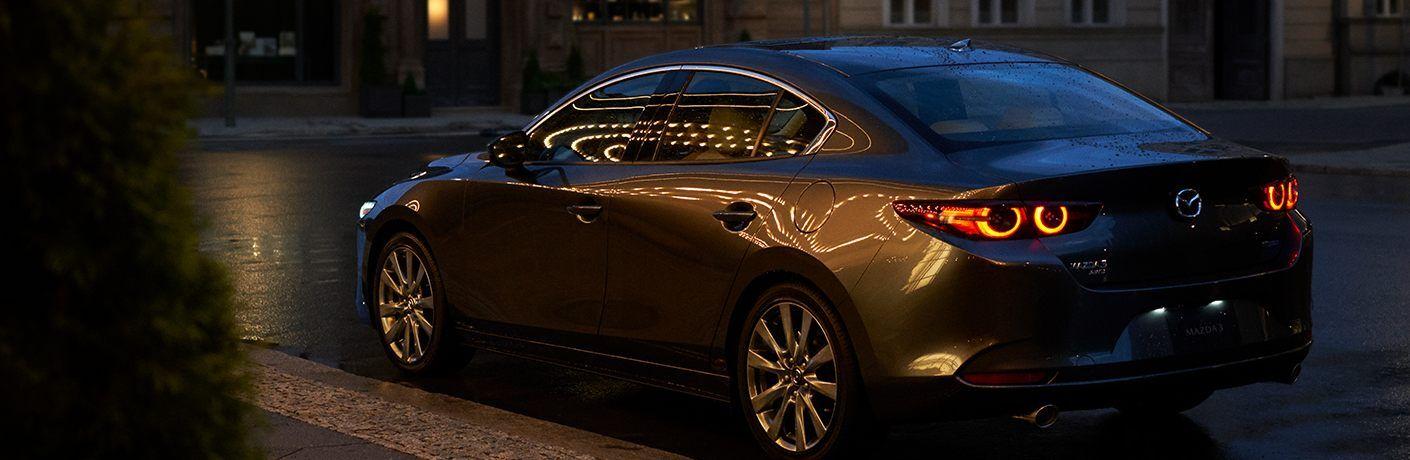 2020 Mazda3 Sedan parked on the street at night