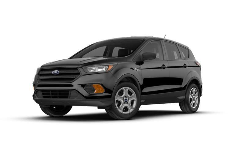 Front View of Black 2018 Ford Escape