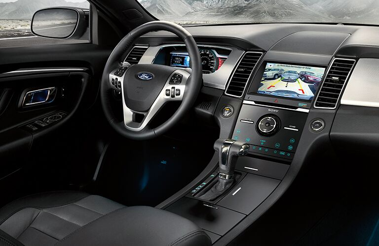 Dashboard and Black Driver's Seat of 2018 Ford Taurus