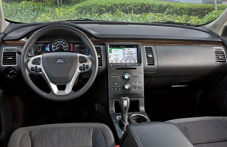 Dashboard and Dark Grey Seats of 2018 Ford Flex