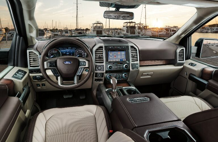 Dashboard and Grey Front Seats in 2019 Ford F-150