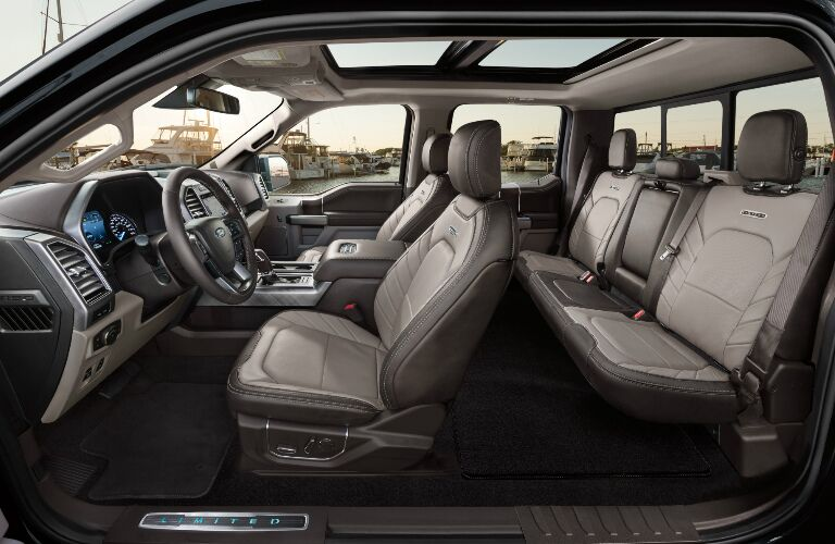 Moonroof and Grey Seats in 2019 Ford F-150