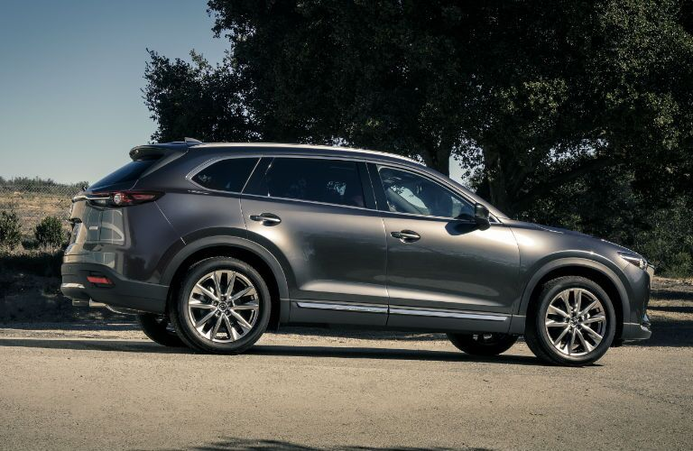 Side View of the 2017 Mazda CX-9 in Silver