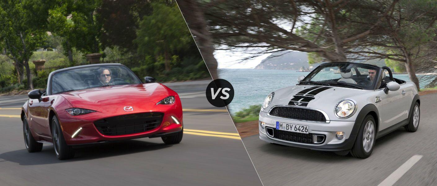 Mazda mx 5 vs mini roadster