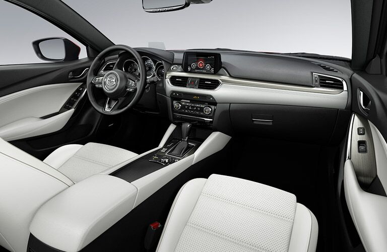 2017.5 Mazda6 Interior View of Front Seating in White