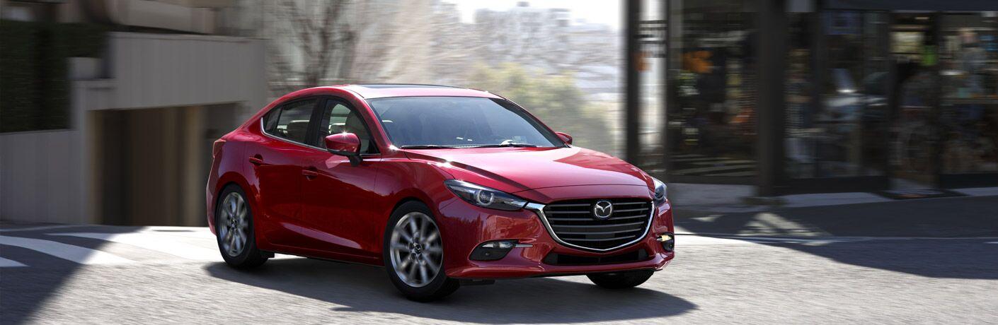 Red 2017 Mazda3 Sedan