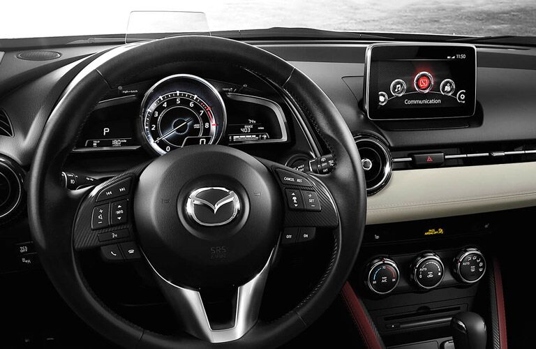 Steering wheel and dashboard in 2017 Mazda CX-3