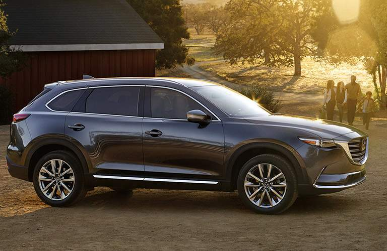 Side View of the Mazda CX-9 in Silver