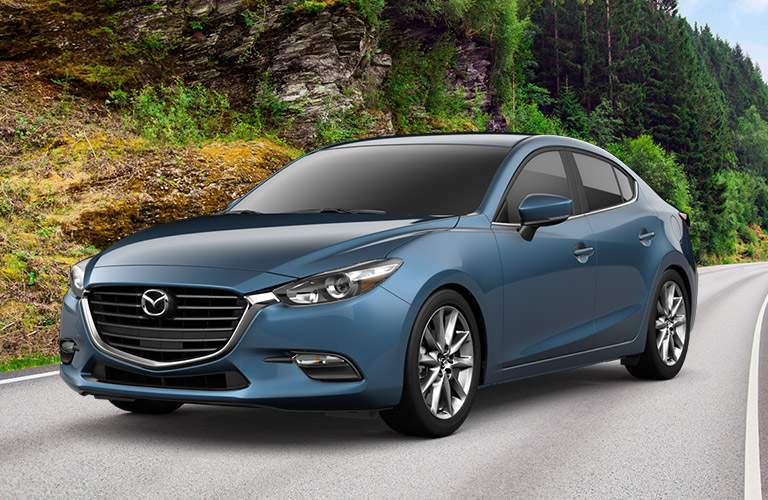 Mazda3 Exterior View in Blue