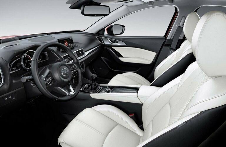 Interior view of 2017 Mazda3 Hatchback
