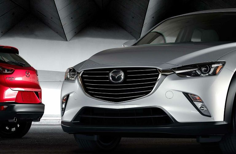 2017 Mazda CX-3 Front View of Grille in White and Red