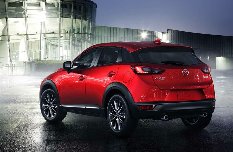 2018 Mazda CX-3 Rear End View in Red