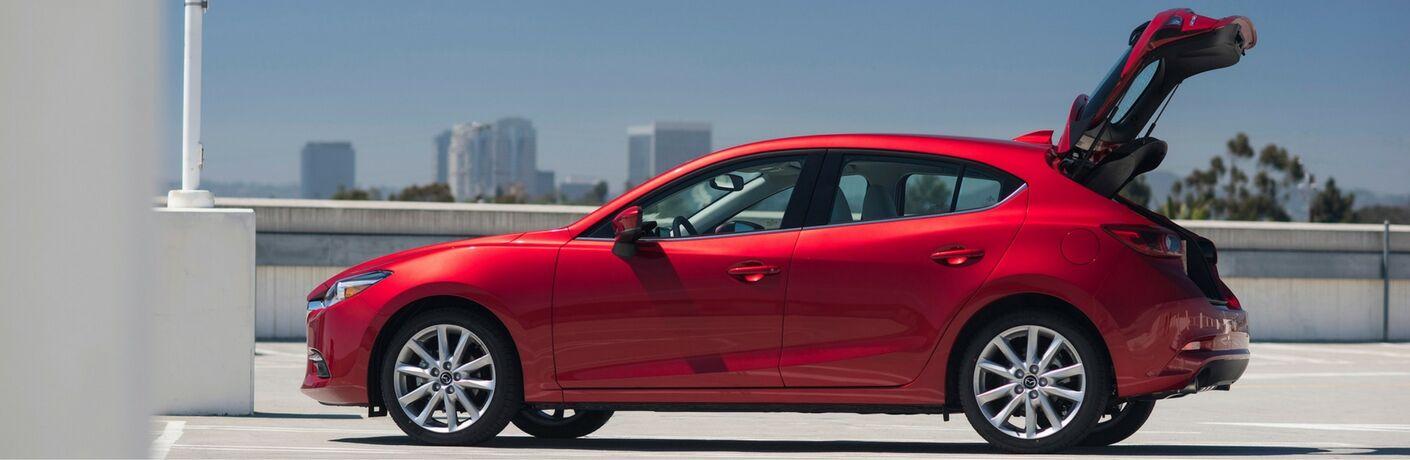 Red 2017 Mazda3 Hatchback