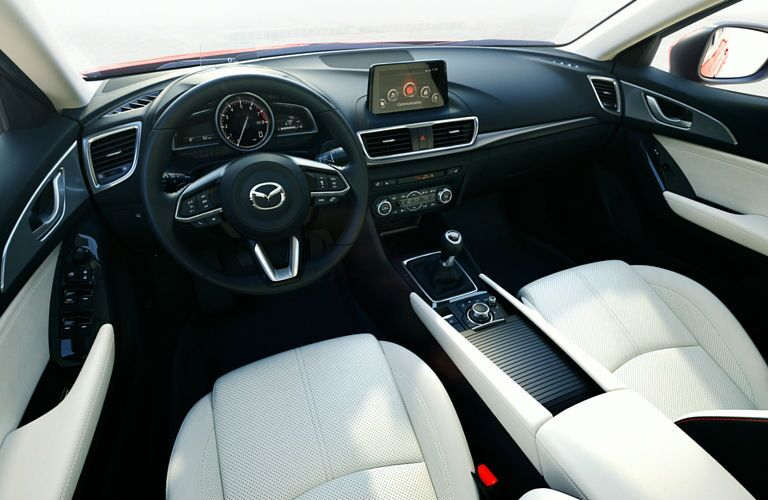 Interior view of 2017 Mazda3
