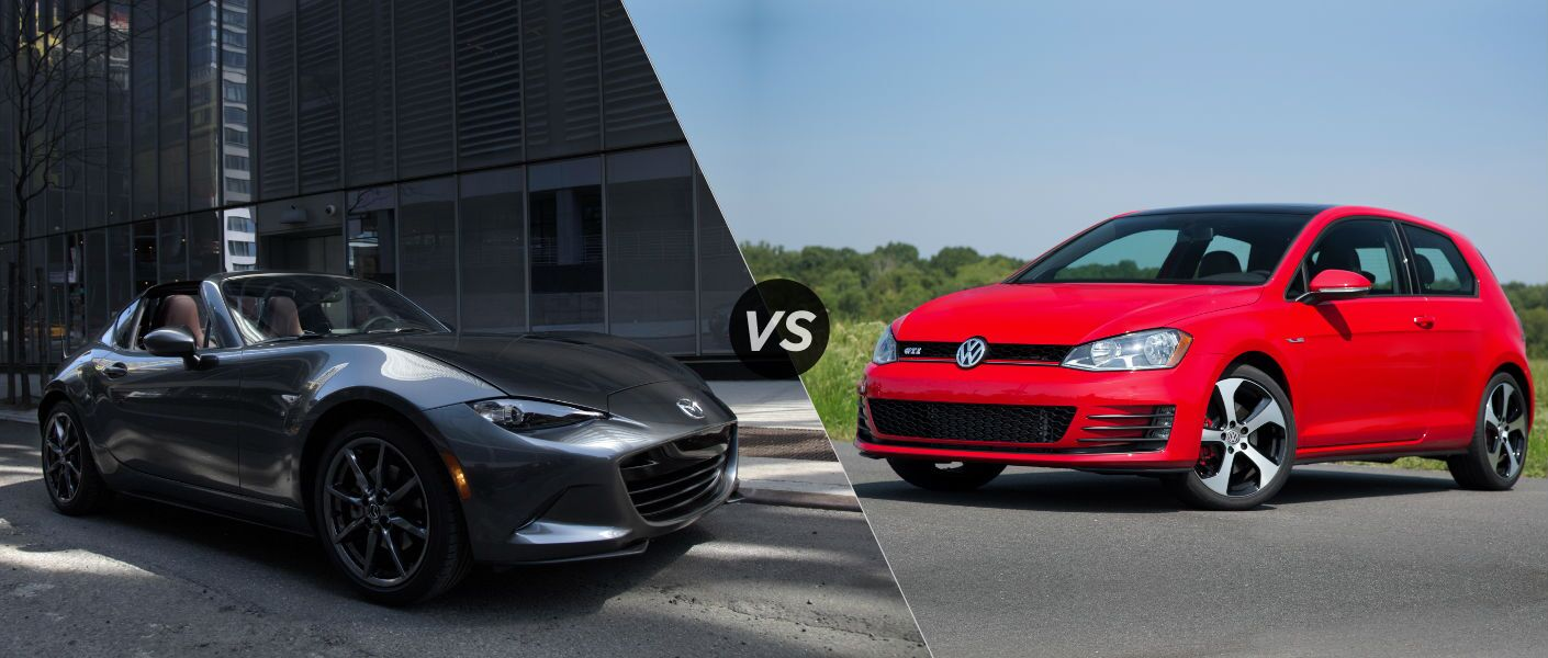 2016 Mazda MX-5 Miata RF vs 2016 Golf GTI