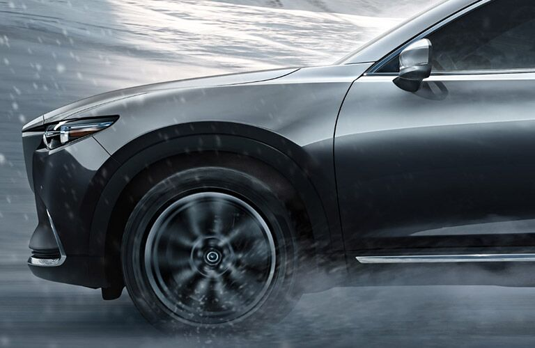 2018 Mazda CX-9 Side View of Gray Exterior