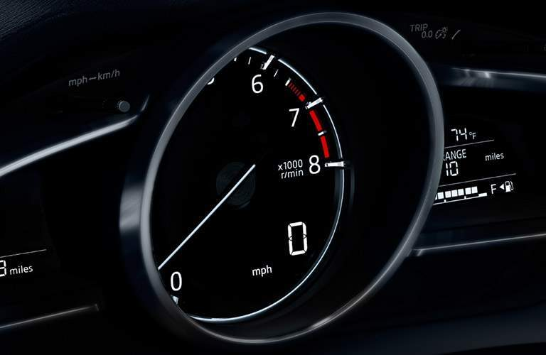 2018 Mazda3 Close-up view of speedometer