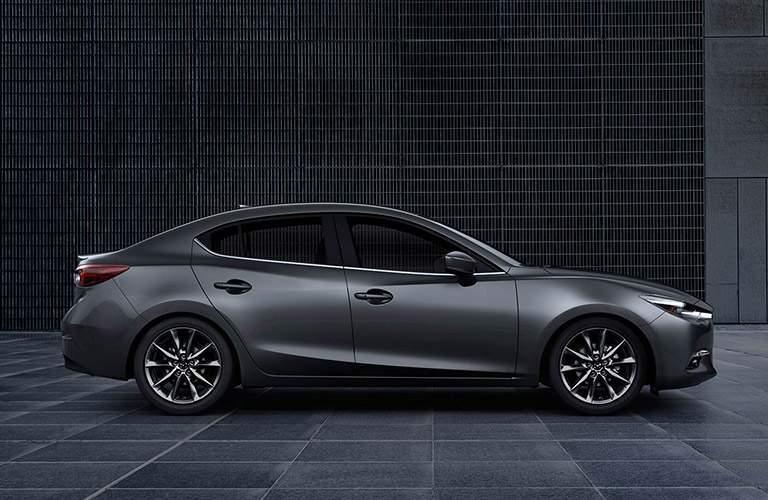 gray 2018 Mazda3 side view