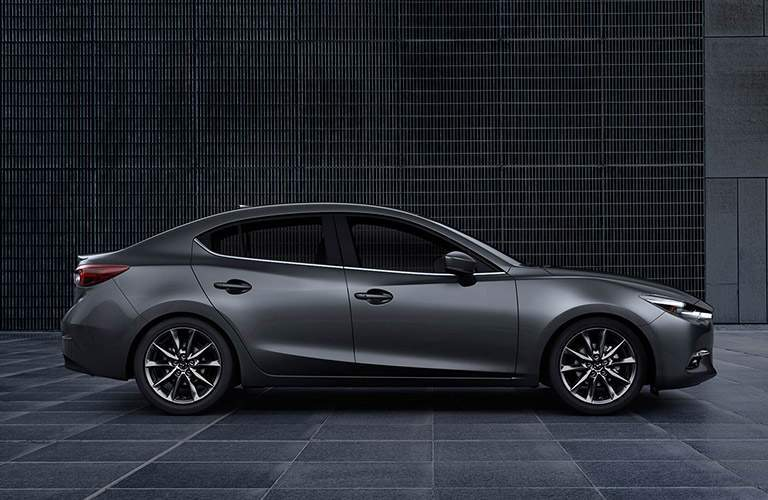 Side View Of The 2018 Mazda3 In Gray