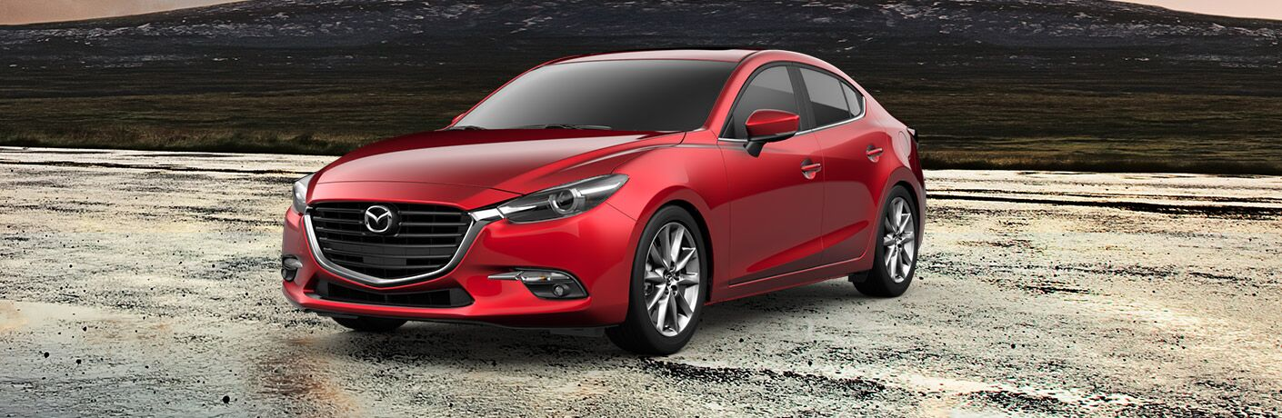 2018 Mazda3 4-Door Grand Touring Front View of Red Exterior