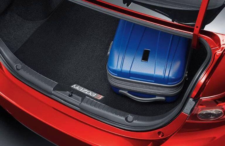 2018 Mazda3 4-Door Trunk Open with Suitcase