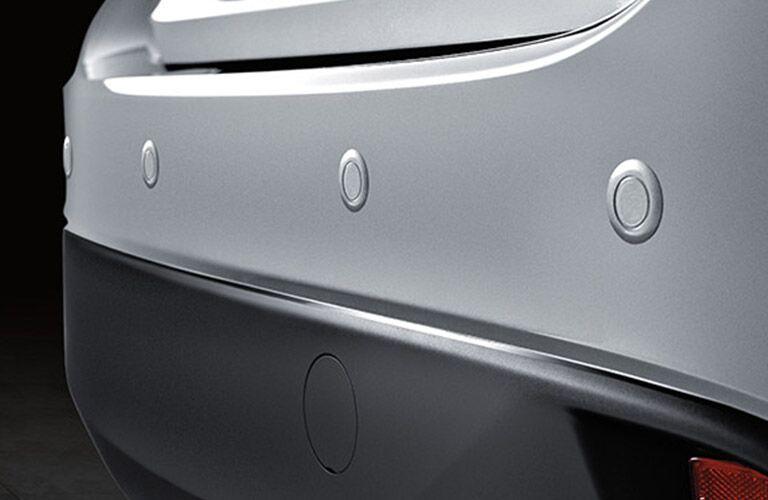 2018 Mazda3 4-Door Rear Bumper in Silver